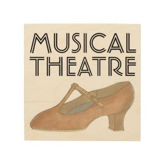 De muzikale Tan van het Theater Leraar van de Hout Afdruk
