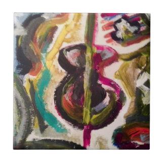 De muzikale Tegel van de Foto van de Waanzin Keramisch Tegeltje