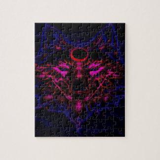 De mythische Blauwe Wolf van het Neon Legpuzzel