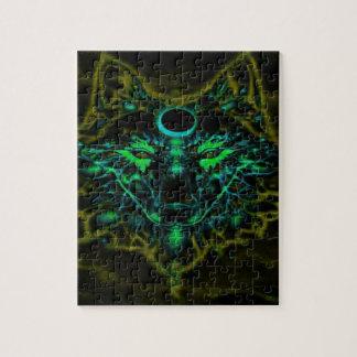 De mythische Gele Wolf van het Neon Puzzel
