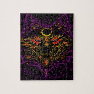De mythische Paarse Wolf van het Neon Legpuzzel