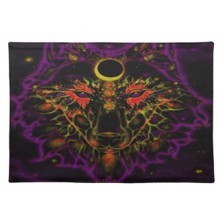 De mythische Paarse Wolf van het Neon Placemat