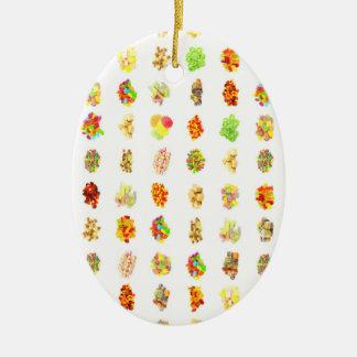 De naadloze Snoepjes en Achtergrond van het Keramisch Ovaal Ornament