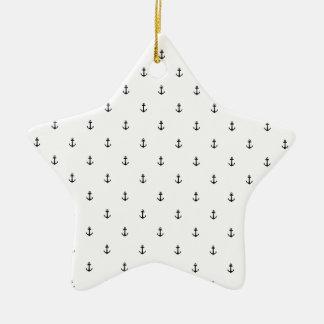 De naadloze textuur van het anker keramisch ster ornament
