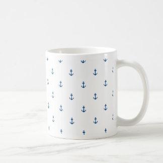 De naadloze textuur van het anker koffiemok