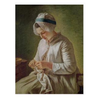 De naaister of, het Jonge Werken van de Vrouw Briefkaart