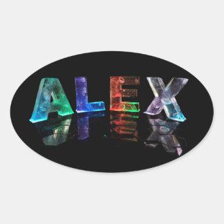 De naam Alex in Lichten Ovale Sticker