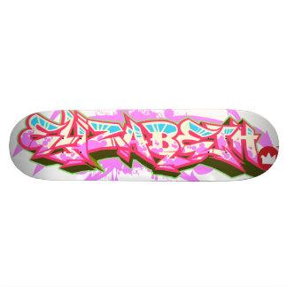 De naam Elizabeth in graffiti Skateboard Decks