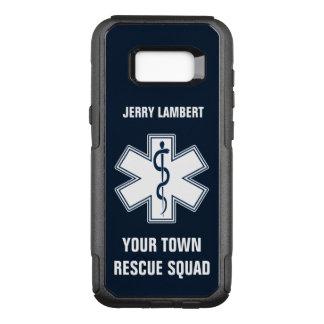 De Naam en de Ploeg van de Paramedicus van EMT EMS OtterBox Commuter Samsung Galaxy S8+ Hoesje