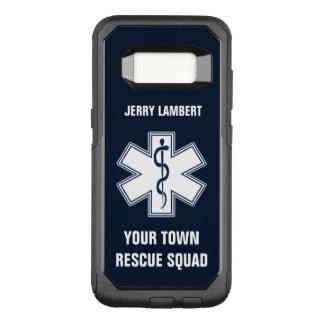 De Naam en de Ploeg van de Paramedicus van EMT EMS OtterBox Commuter Samsung Galaxy S8 Hoesje