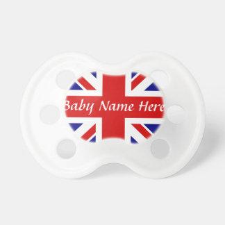 De Naam van het baby +De vlag van Union Jack Speentjes