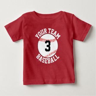 De Naam van het Team van het Honkbal van de peuter Baby T Shirts