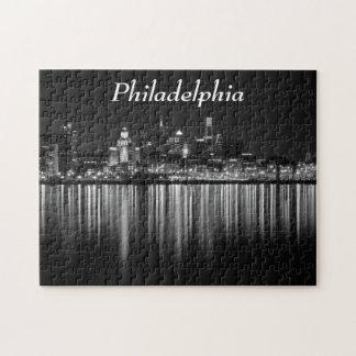 De nacht b/w van Philly Puzzel