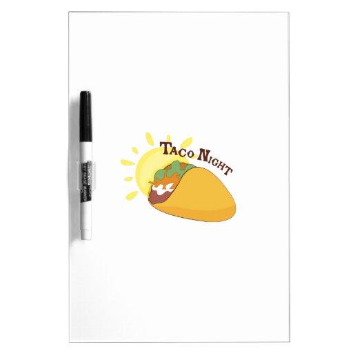 De Nacht van de taco Dry Erase Whiteboard