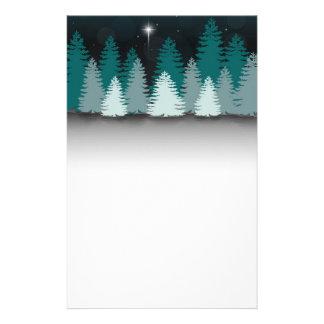 De Nacht van de winter met Kerstster - Briefpapier