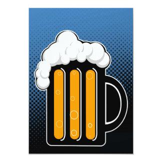 De nacht van het bier nodigt uit 12,7x17,8 uitnodiging kaart