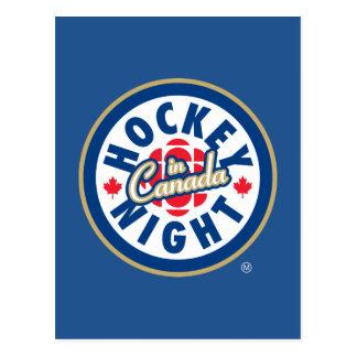 De Nacht van het hockey in het logo van Canada Briefkaart
