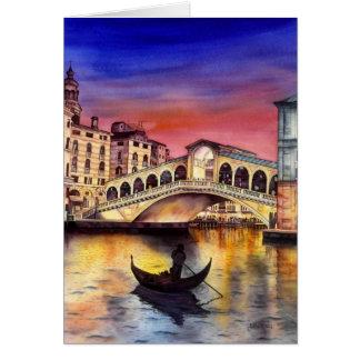 De Nacht van Venetië Wenskaart