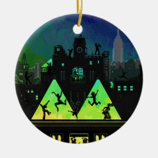 De Nachten van New York Boogie Rond Keramisch Ornament