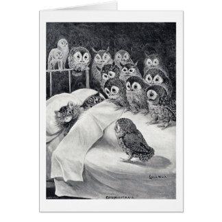 De Nachtmerrie van katten, Louis Wain Kaart