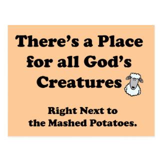 De Nachtmerrie van vegetariërs Briefkaart