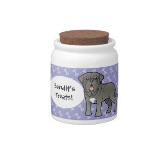 De Napolitaanse Mastiff van de cartoon Porseleinen Snoeppot