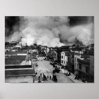 De Nasleep van de Aardbeving van San Francisco - Poster