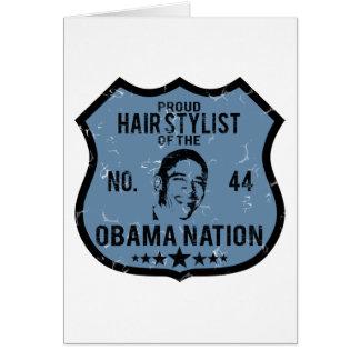 De Natie van Obama van de herenkapper Briefkaarten 0