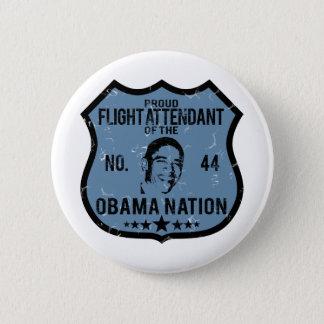 De Natie van Obama van de steward Ronde Button 5,7 Cm