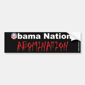 De Natie van Obama: Walg Bumpersticker