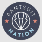 De Natie van Pantsuit om Sticker, Marine Ronde Sticker