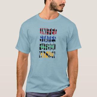 De Natie van Verenigde Staten Futbol T Shirt