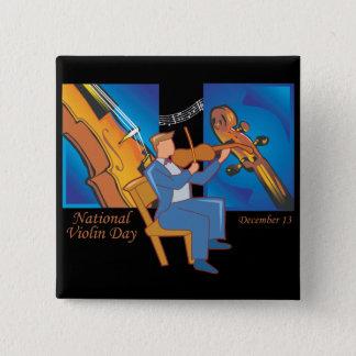 De nationale Dag van de Viool Vierkante Button 5,1 Cm