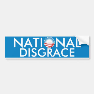 De Nationale Schande van Obama Bumpersticker
