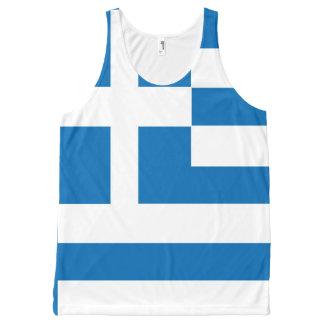 De nationale vlag van Griekenland All-Over-Print Tank Top
