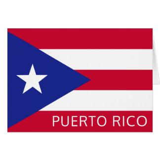 De nationale Vlag van Puerto Rico Kaart