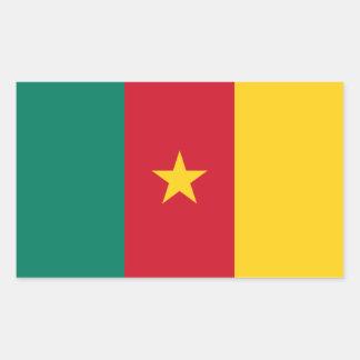 De Nationale Vlag van VIER Kameroen Rechthoekige Sticker