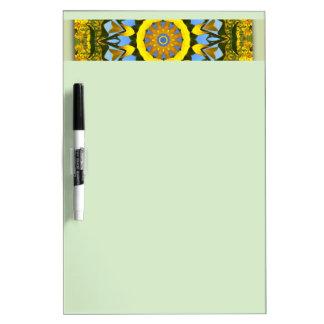 De Natuur van de zonnebloem, bloem-Mandala Whiteboard