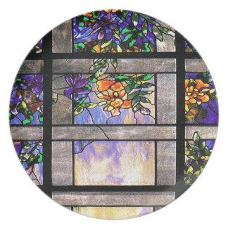 De Natuur van het Gebrandschilderd glas van Melamine+bord