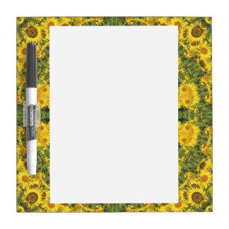 De Natuur van zonnebloemen, bloem-Mandala Whiteboard