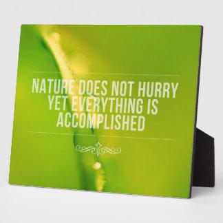 De natuur verhaast het geen Inspirerend Citaat van Fotoplaat