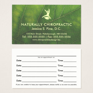 De natuurlijke Benoeming van de Chiropracticus van Visitekaartjes