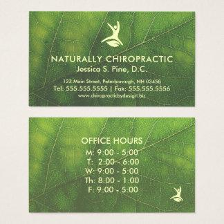 De natuurlijke Chiropracticus van het Spreekuur Visitekaartjes