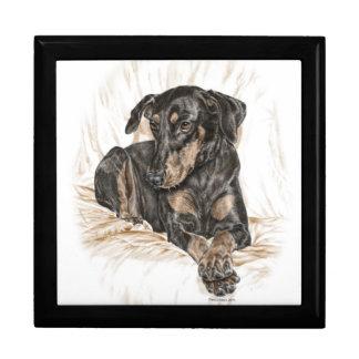De Natuurlijke Oren van de Hond van Doberman Decoratiedoosje