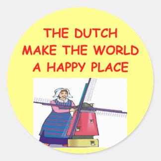 de Nederlanders Ronde Stickers