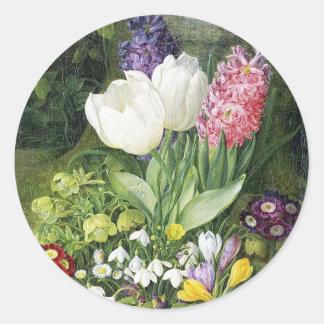 De Nederlandse Bloemen van de Lente van de Bol Ronde Sticker