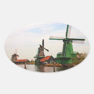 De Nederlandse ovale sticker van Windmolens