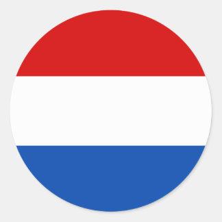 De Nederlandse Vlag Ronde Sticker