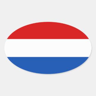 De Nederlandse Vlag Ovale Sticker