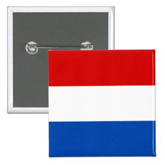 De Nederlandse Vlag Vierkante Button 5,1 Cm
